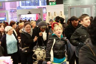 Hundreds of shoppers flood to High Road, Wood Green, on November 12 for the opening of budget fashion chain Primark