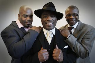 We are family: UKIP candidate Winston McKenzie is being backed by his brother Duke McKenzie, right, a three-time world boxing champion, and cousin Leeroy McKenzie