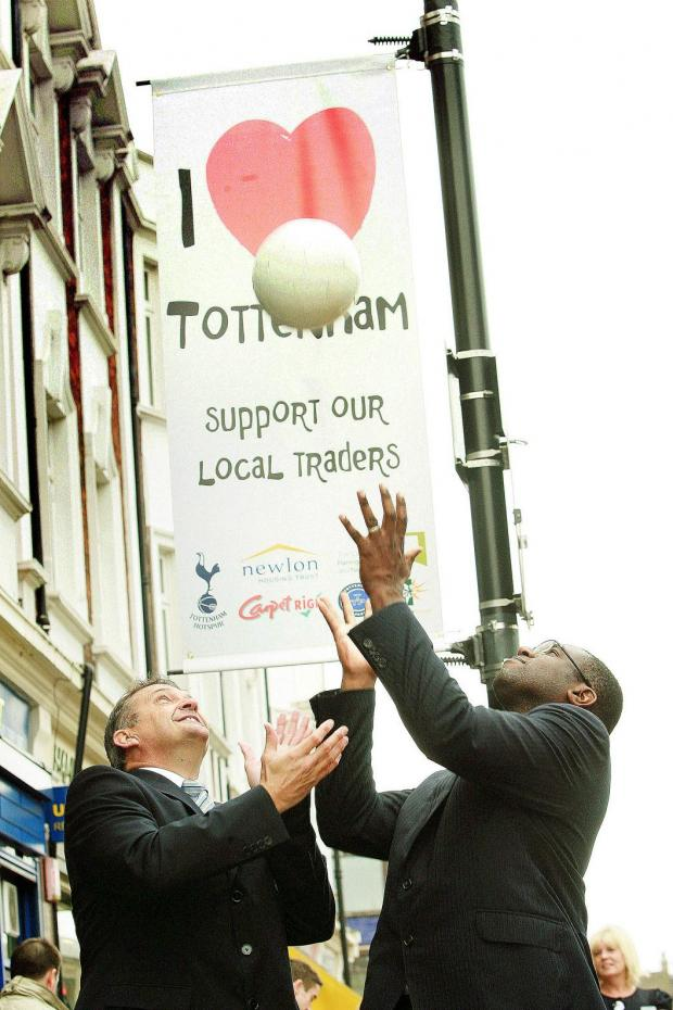 Gary Mabbutt and David Lammy were on hand to kick-off the campaign.