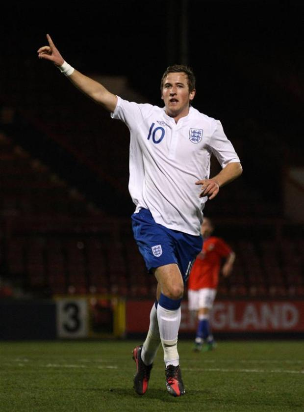 Harry Kane was in action for England Under-19s last night. Picture: Action Images
