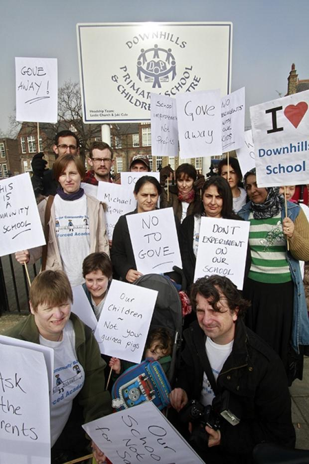 Campaigners have held rallies outside the school and in Westminster.