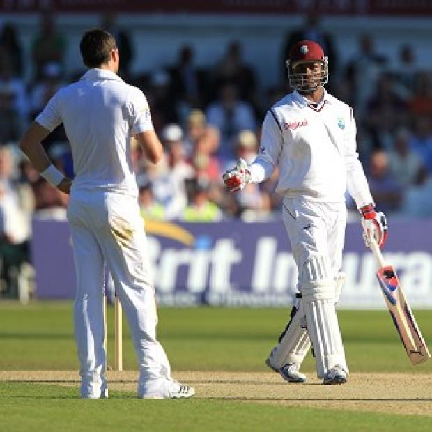 James Anderson (left) and Marlon Samuels