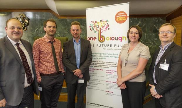 From left to right: cllr Goldberg, Dominic Campbell, director of Future Gov, Geoff Mulgan, chief exec of Nesta, cllr Claire Kober, Richard Vize, contributing editor of Guardian Local Government Network