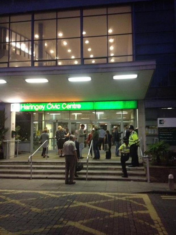 The meeting at Haringey Civic Centre last night ended at 1am.