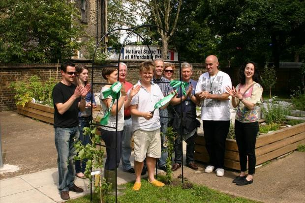 The community garden was officially opened on Saturday.