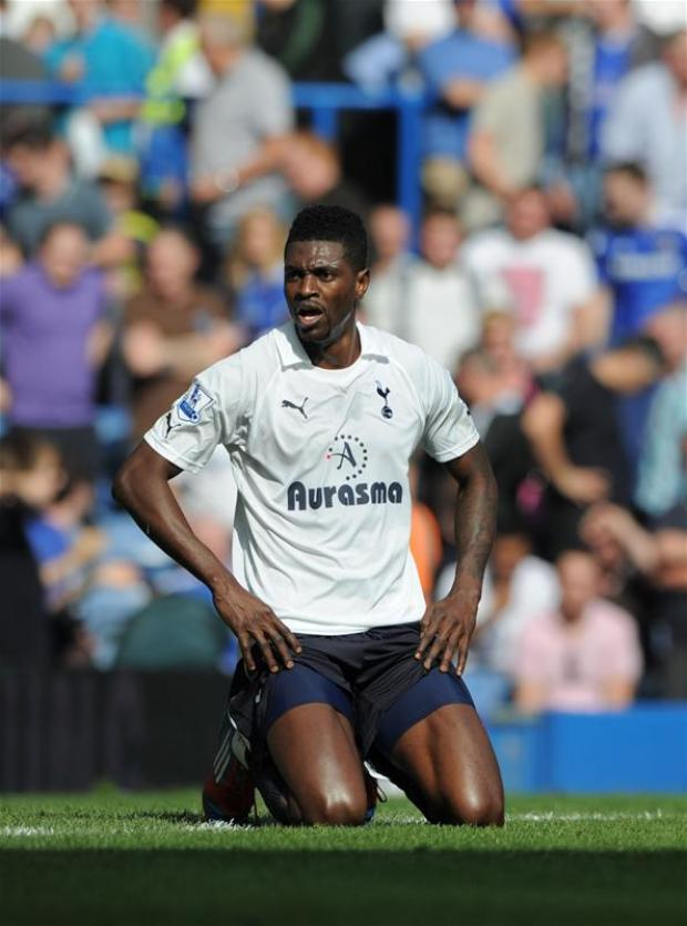 Togolese centre-forward Adebayor came to White Hart Lane on a season-long loan from Manchester City