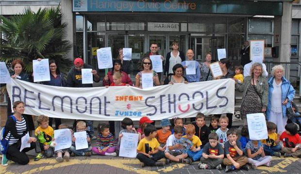Protest by parents against the plans