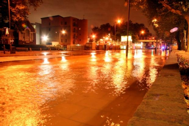 "Water in High Road was ""like a river"""
