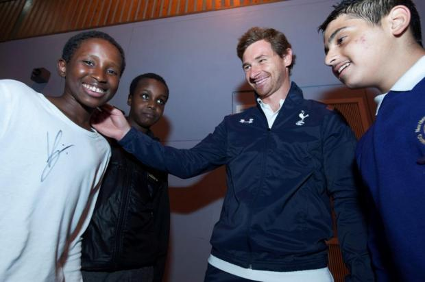 Pupils get coaching session with Spurs manager
