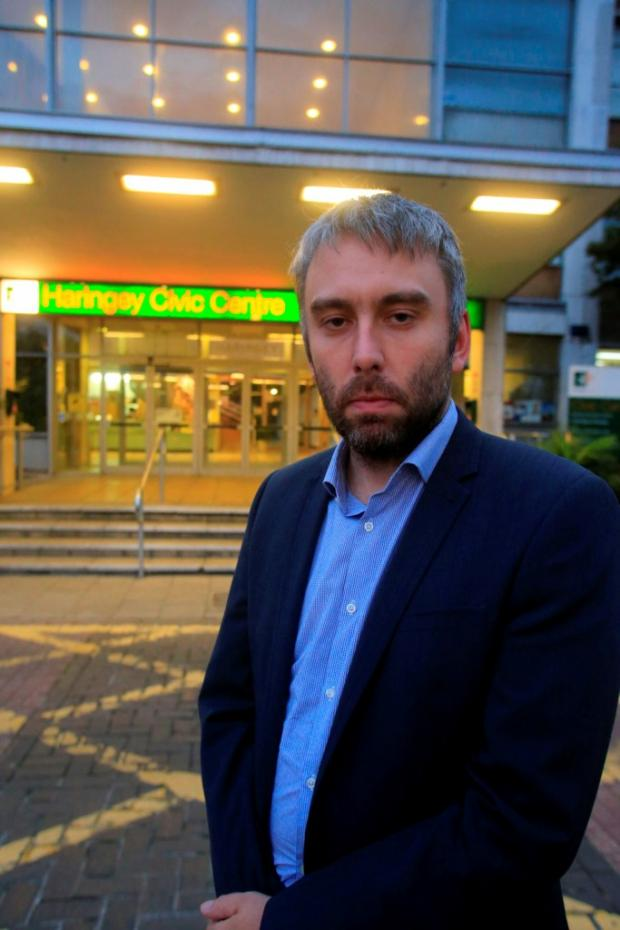 Councillor Richard Wilson outside the Haringey Council Civic Centre