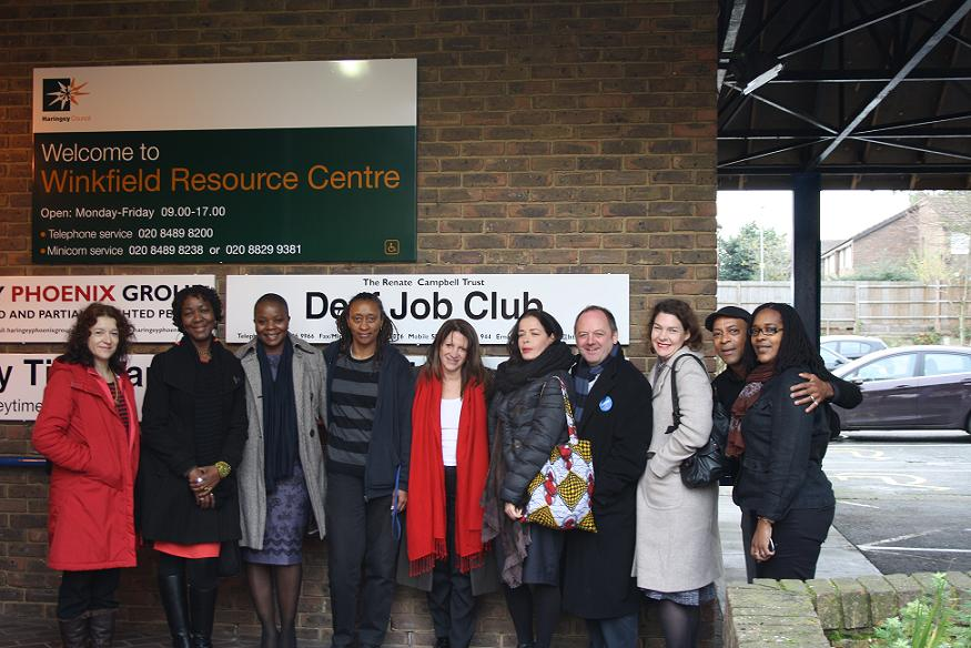 Lynne Featherstone MP (centre) at the Winkfield Resource Centre