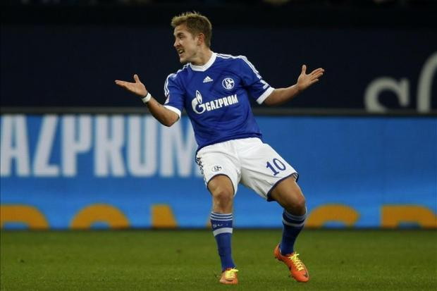 Lewis Holtby playing for Schalke in December. Picture Action Images.