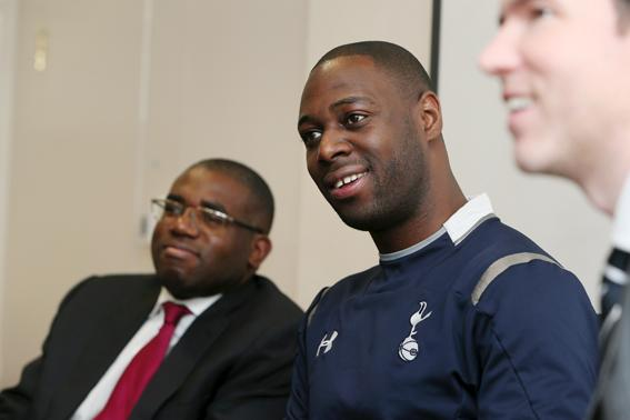 Students get inspirational talk from MP and Spurs legend