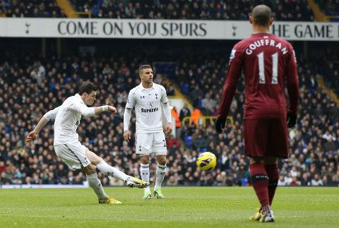 Bale put the home side ahead with a superb free-kick
