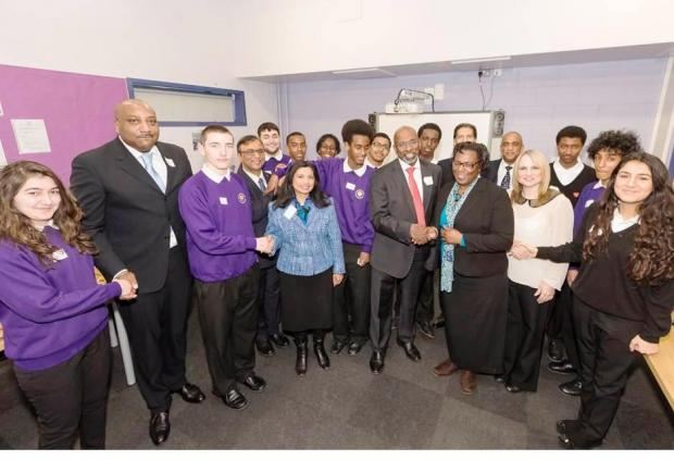 Mentors and pupils at  Northumberland Park Community School