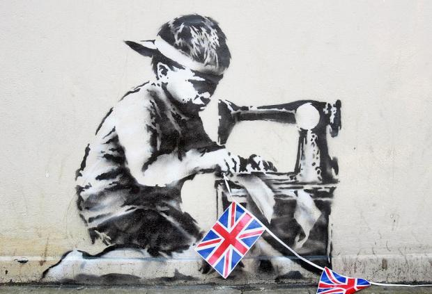 Banksy's Slave Labour went missing from the side of Poundland earlier in the month