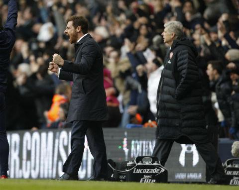 Villas-Boas is hopeful the result could adversely affect the dressing room of Spurs' north London rivals