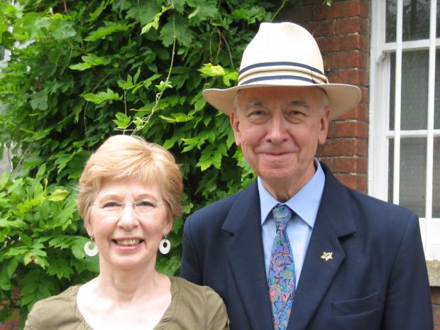 John Waller (right) with wife Barbara