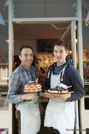 Greg Vuckasovic and Massimo Bergamin who co-own a cafe hosting a night to raise money for charity