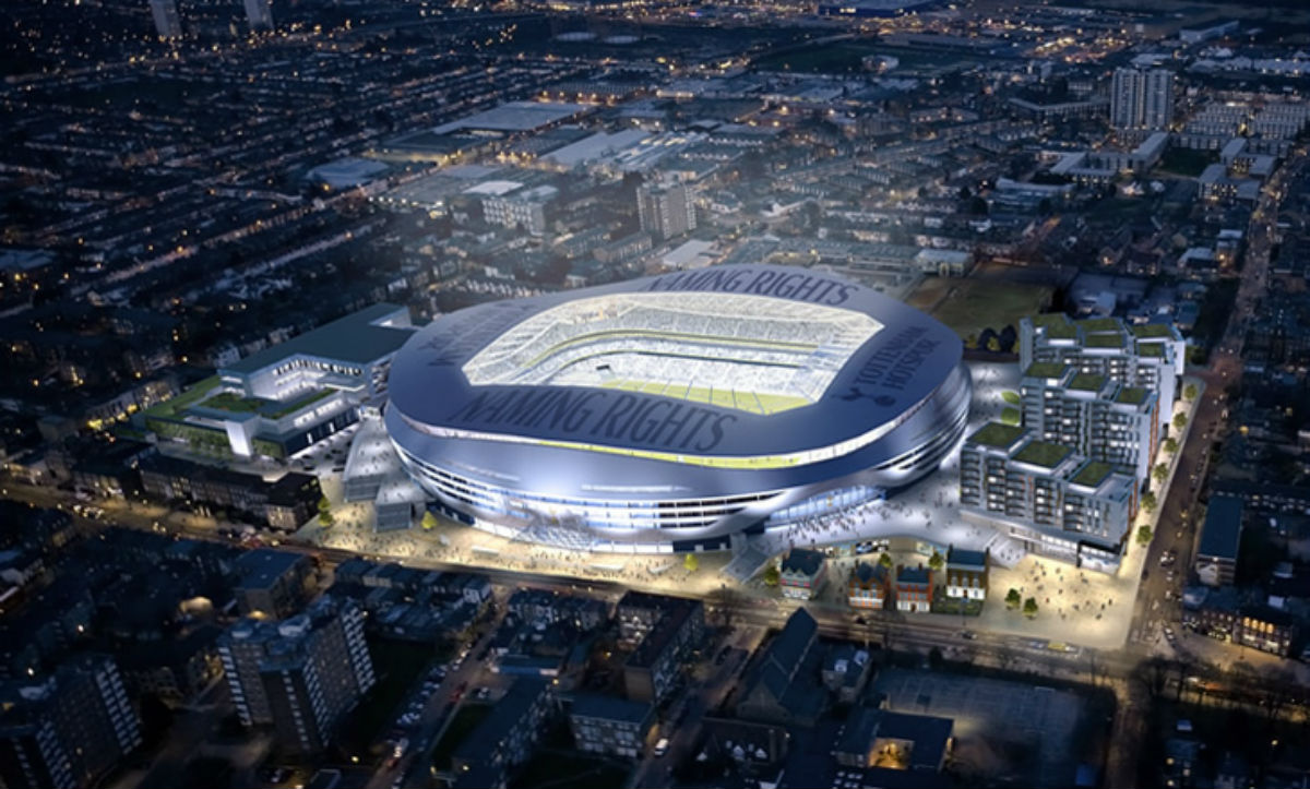 Tottenham Hotspur says it is on track to move in to the new stadium in 2017