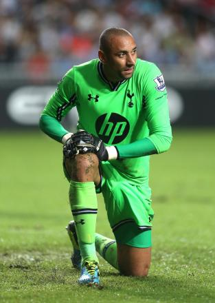 Heurelho Gomes has not played for Spurs for nearly thr