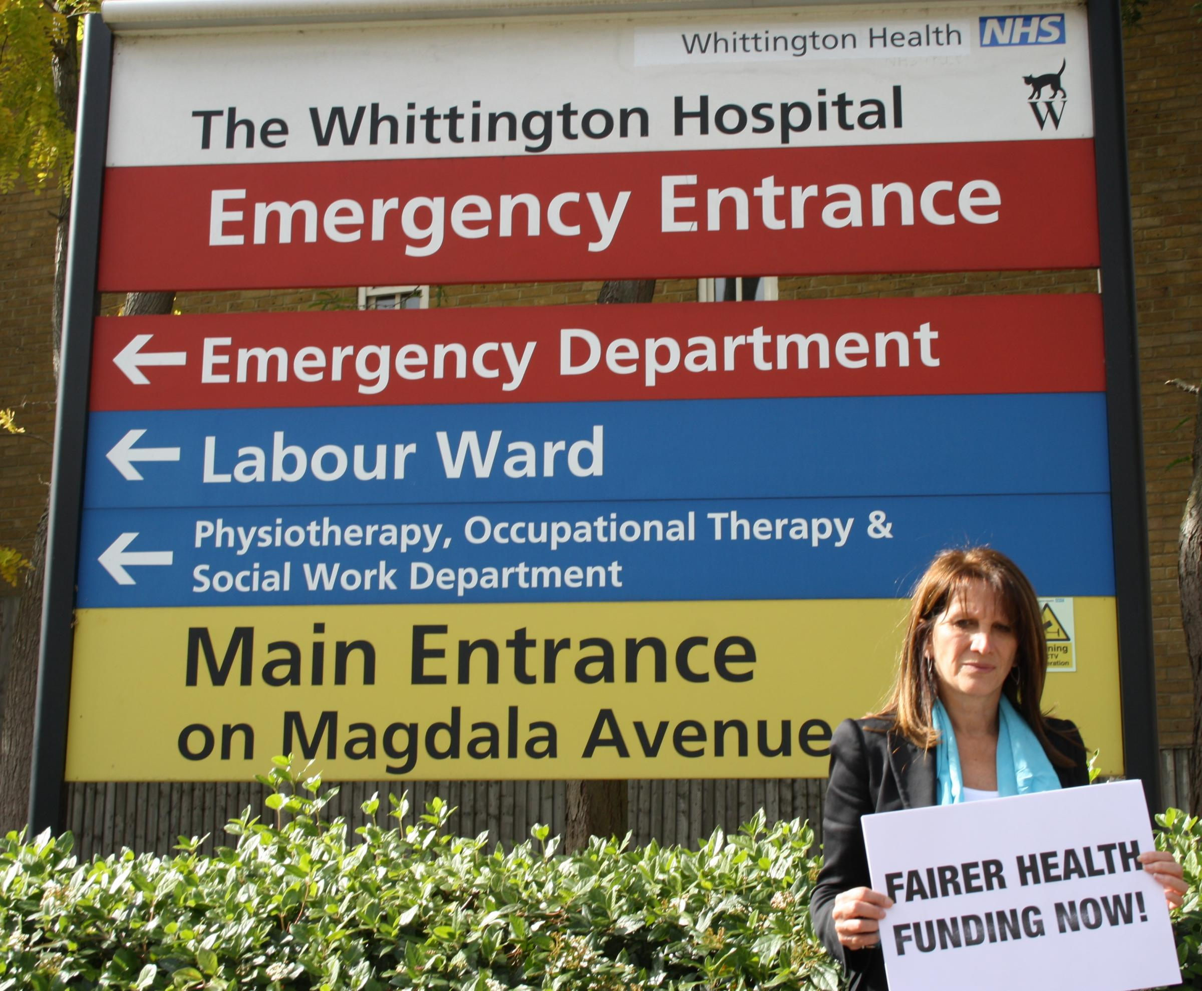 Lynne Featherstone MP campaigns for fairer health funding