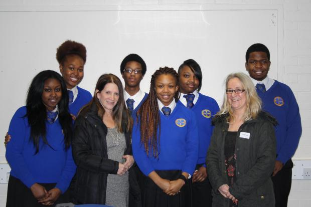 Lynne Featherstone spoke to a group of Year 11 students at Grieg City Academy about homelessness