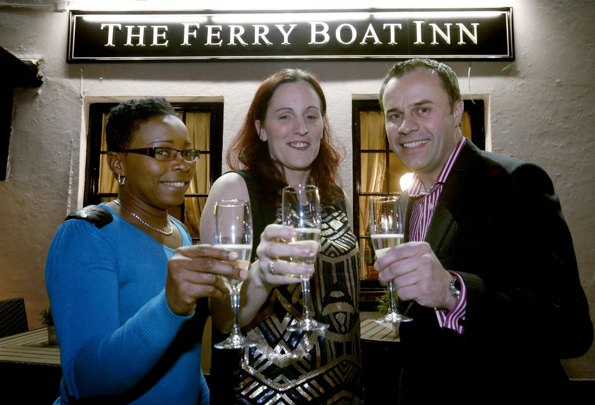 Manager Tracey Lynch (centre) is pictured with deputy manager Dahlia Valentine (left) and area manager Nick M