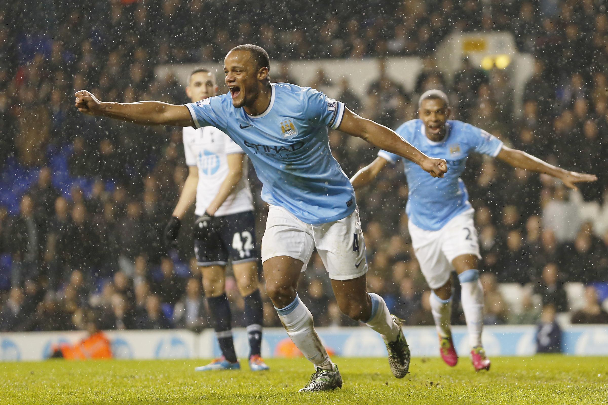Vincent Kompany added a fifth late on to complete a miserable evening for Spurs