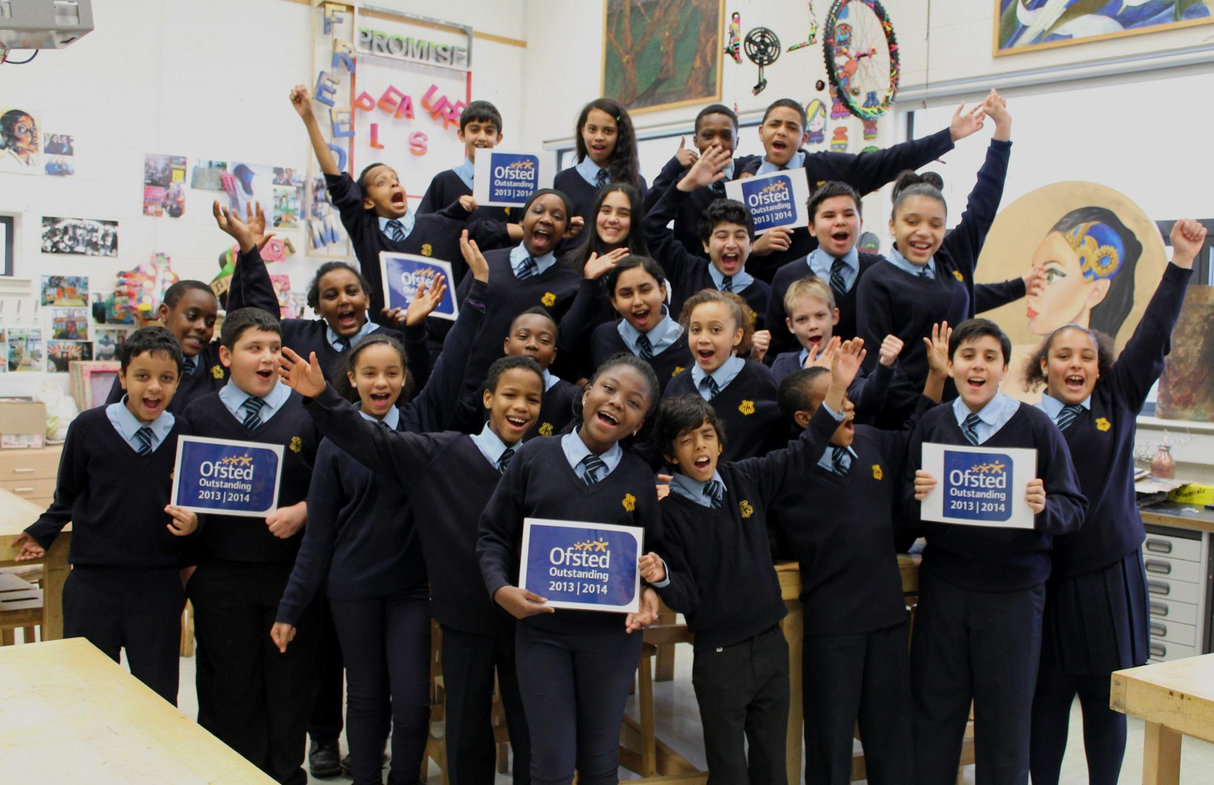 Students at Gladesmore Community School celebrated the outstanding Ofsted inspection
