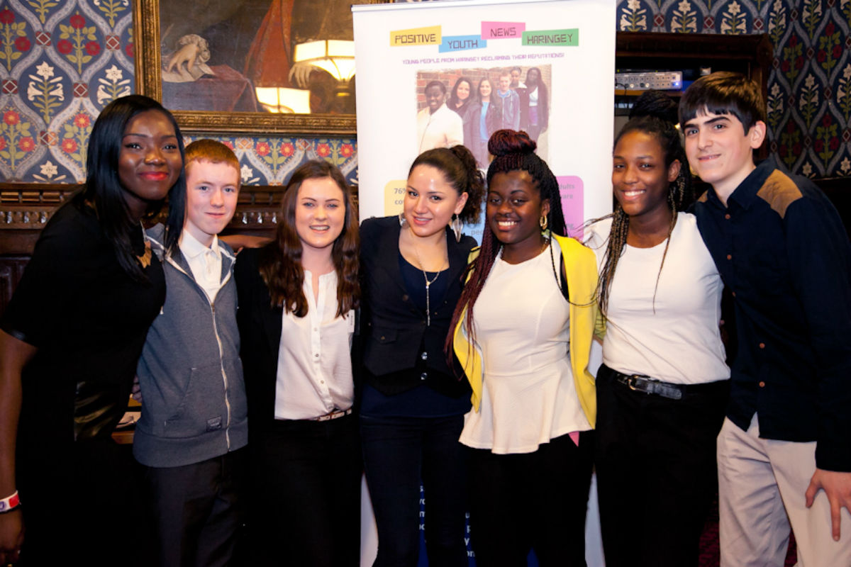 The group behind Positive Youth News Haringey has been nominated for the  John Lewis London Young People of the Year Award 2014