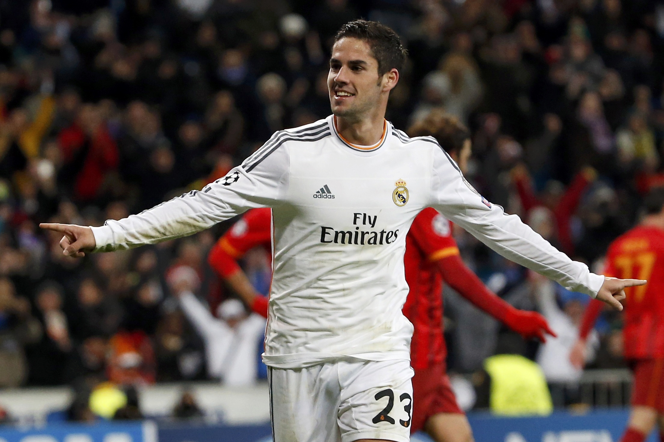 Isco celebrates after scoring a goal against Galatasaray during their Champions League soccer match in November. Picture: Action Images