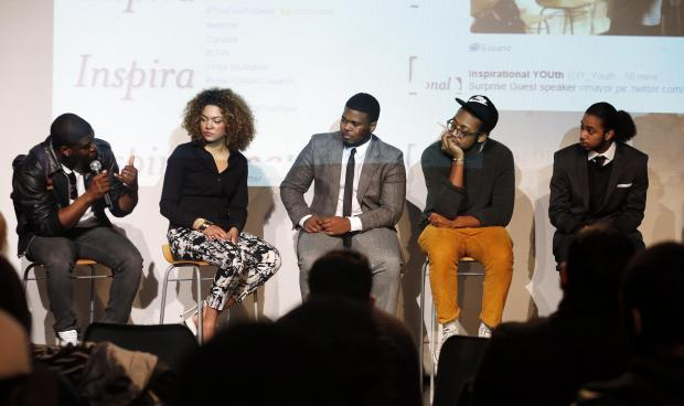 Haringey Independent: Josh McKenzie, Camara Fearon, Jacob Sakil, Kevin Morosky and Ernest Kouassi answer questions from young people about how they can make it in the media industry