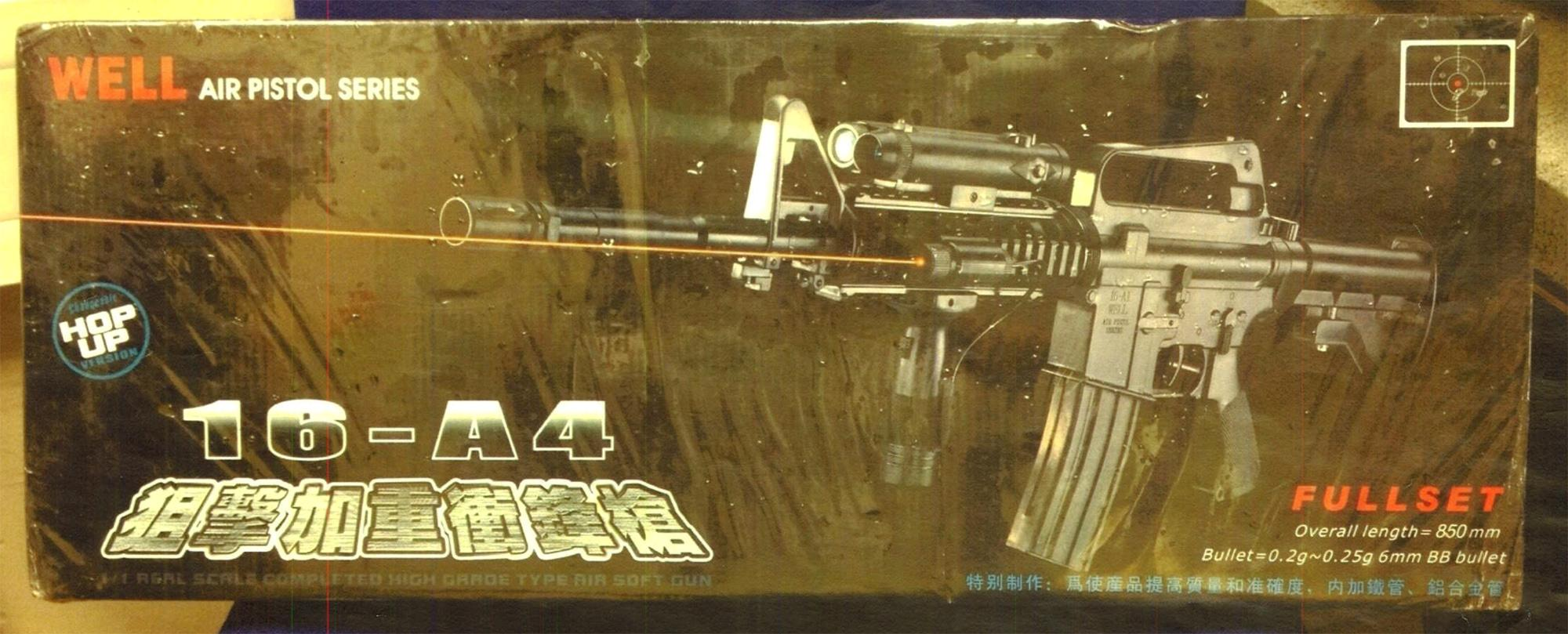 The Well brand replica guns, which retail at about £60 each, were found in their original packaging