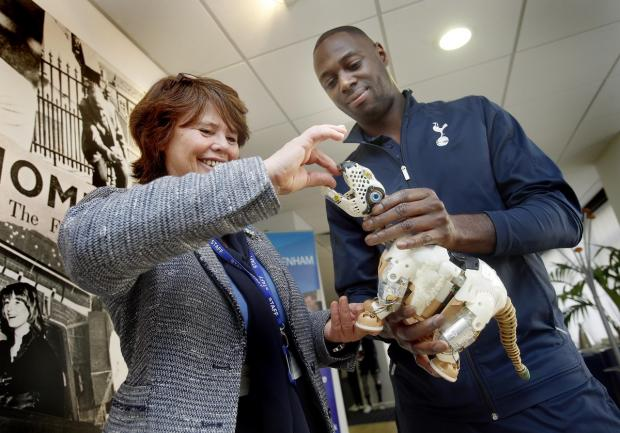Haringey Independent: Ledley King joined recently-appointed headteacher Deborah Ramm-Harpley at an open day for prospective students at White Hart Lane