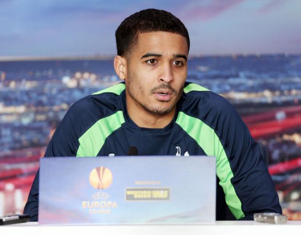 Facing the media: Kyle Naughton. Picture: Action Images
