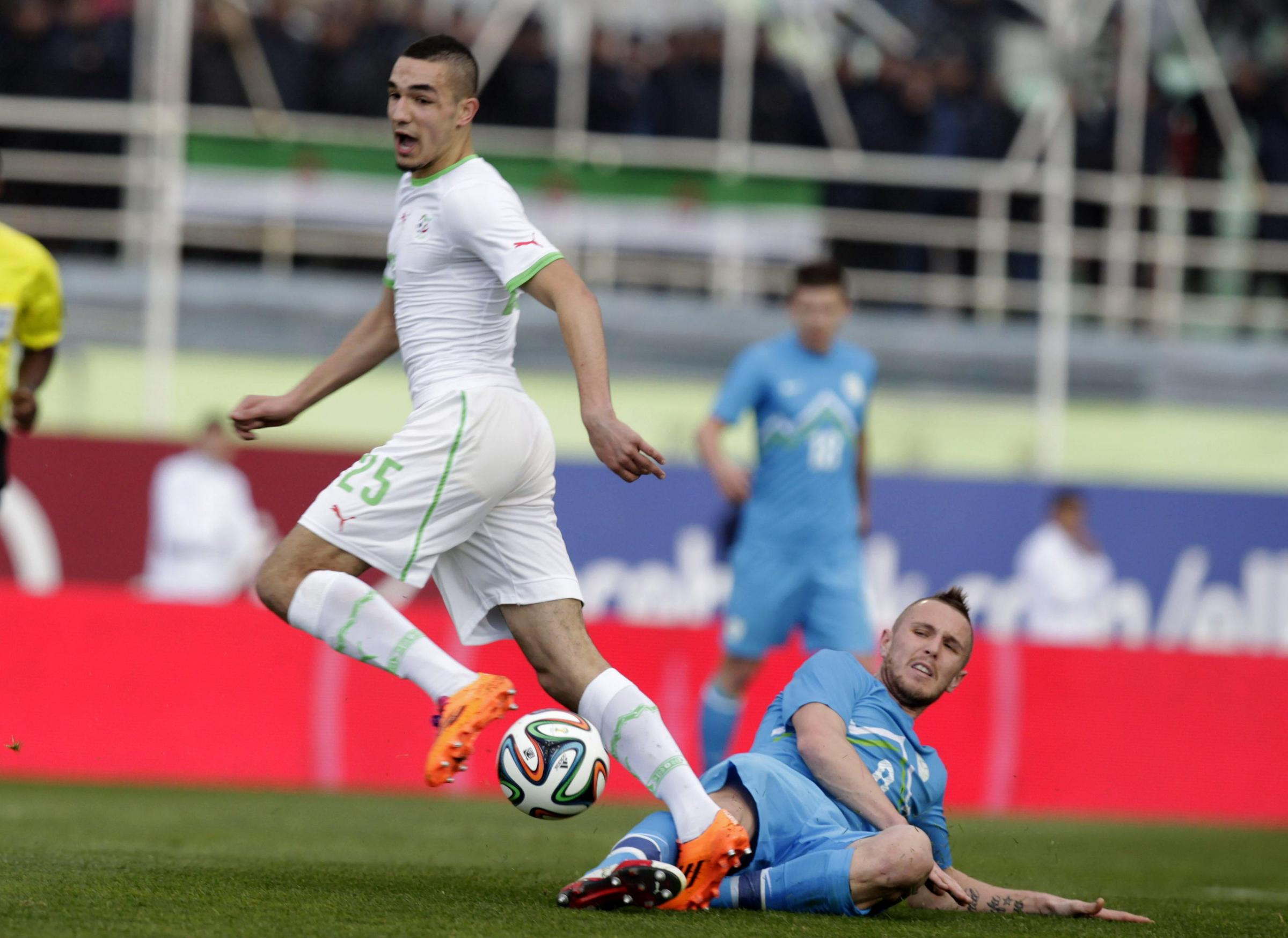 Bentaleb makes Algeria debut. Picture: Action Images