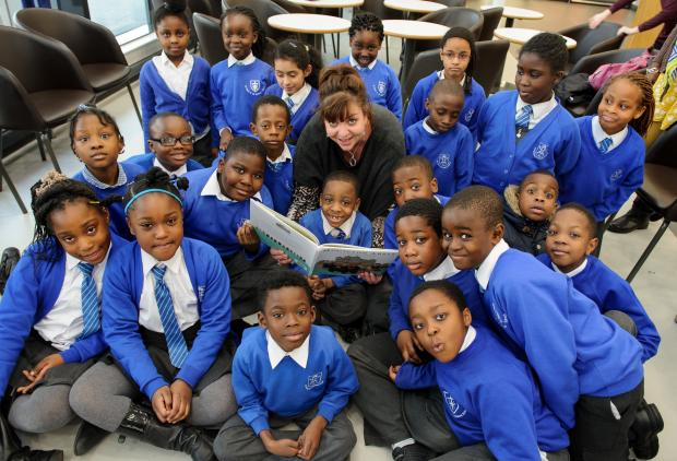 Haringey Independent: Author Joanna Bicknell read extracts from her book 'Mouston Abbey' to 30 students from the St Paul's & All Hallows' School