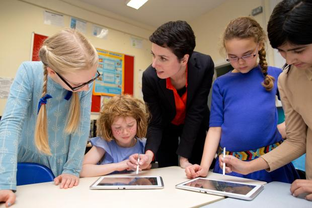 Pupils at Highgate Wood School take part in the Apps for Good programme
