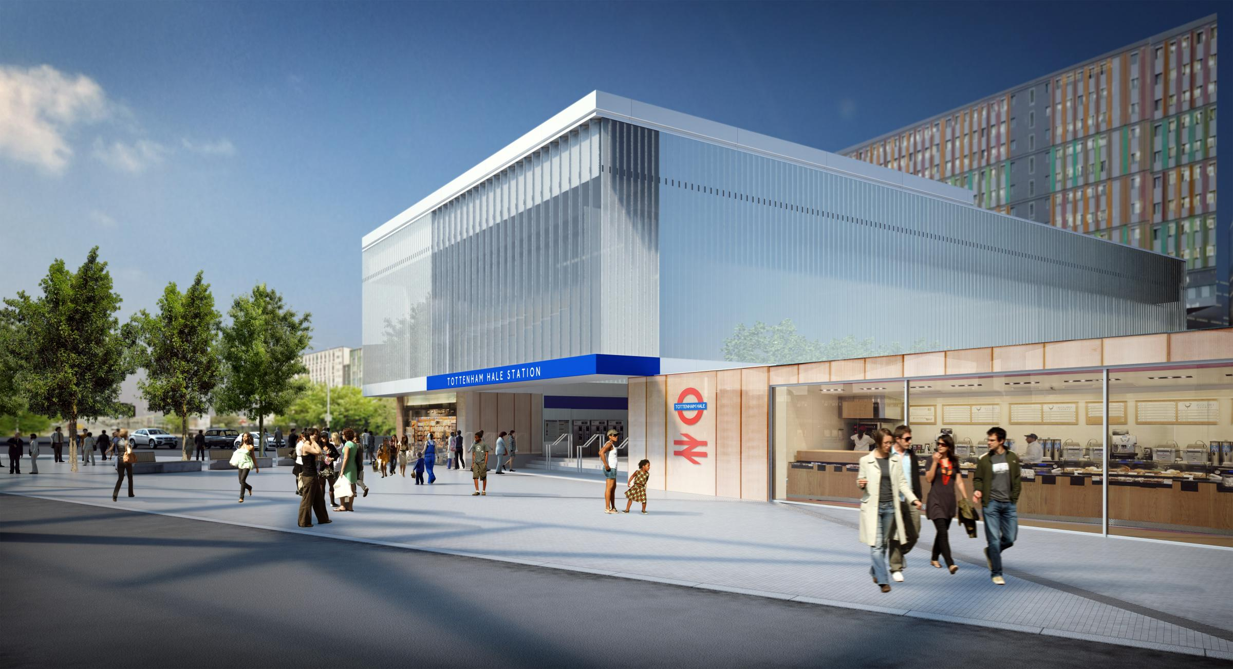 An artist impression of what Tottenham Hale Station will look like once it has been redeveloped