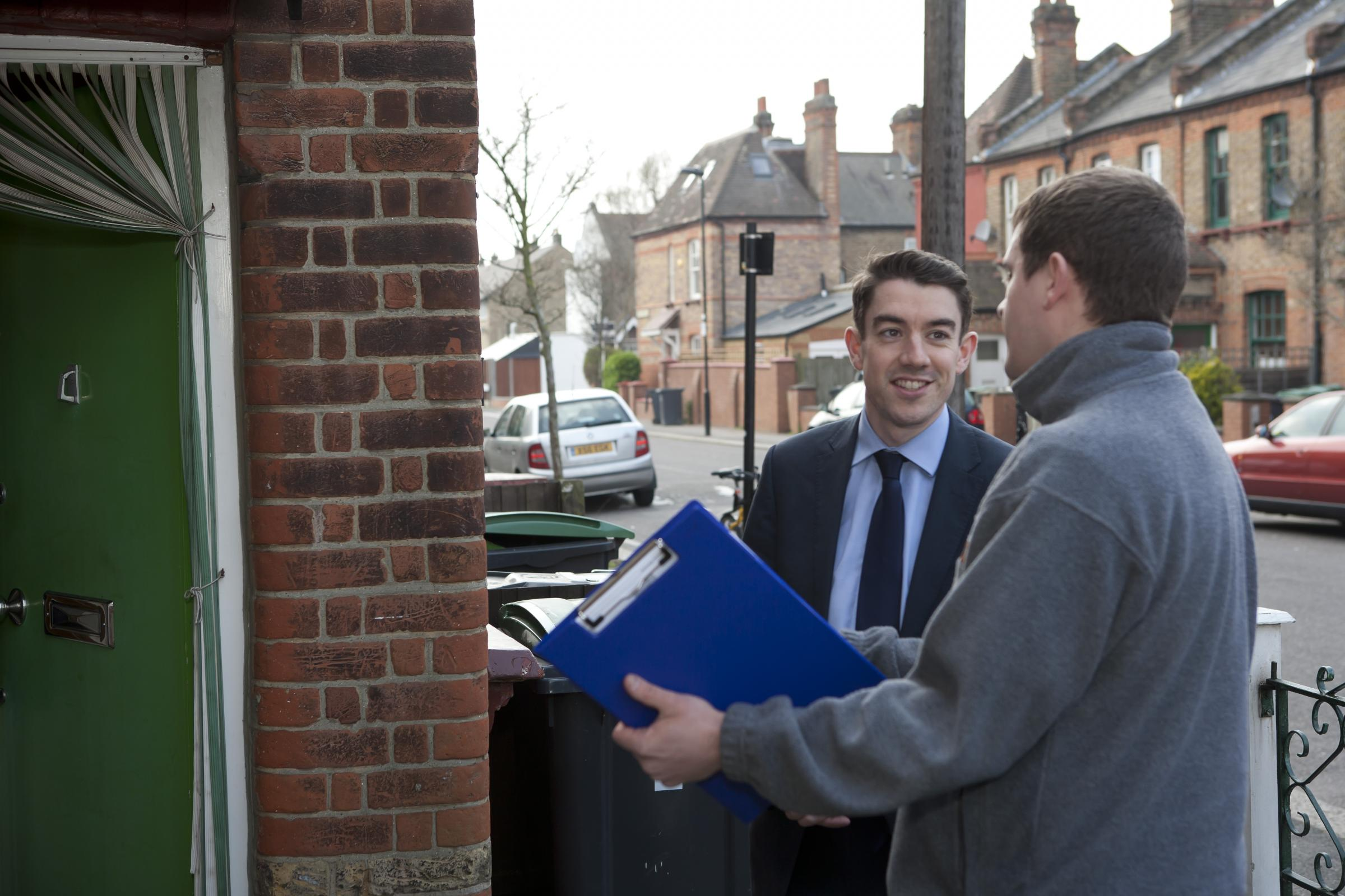 Councillor Alan Strickland goes surveying with officers from Homes For Haringey