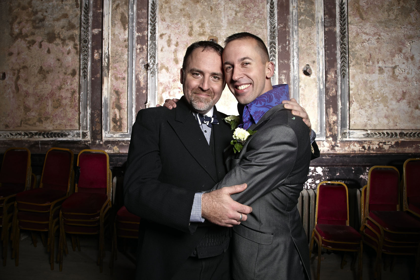 Benjamin Till and Nathan Taylor got married at Alexandra Palace on Saturday