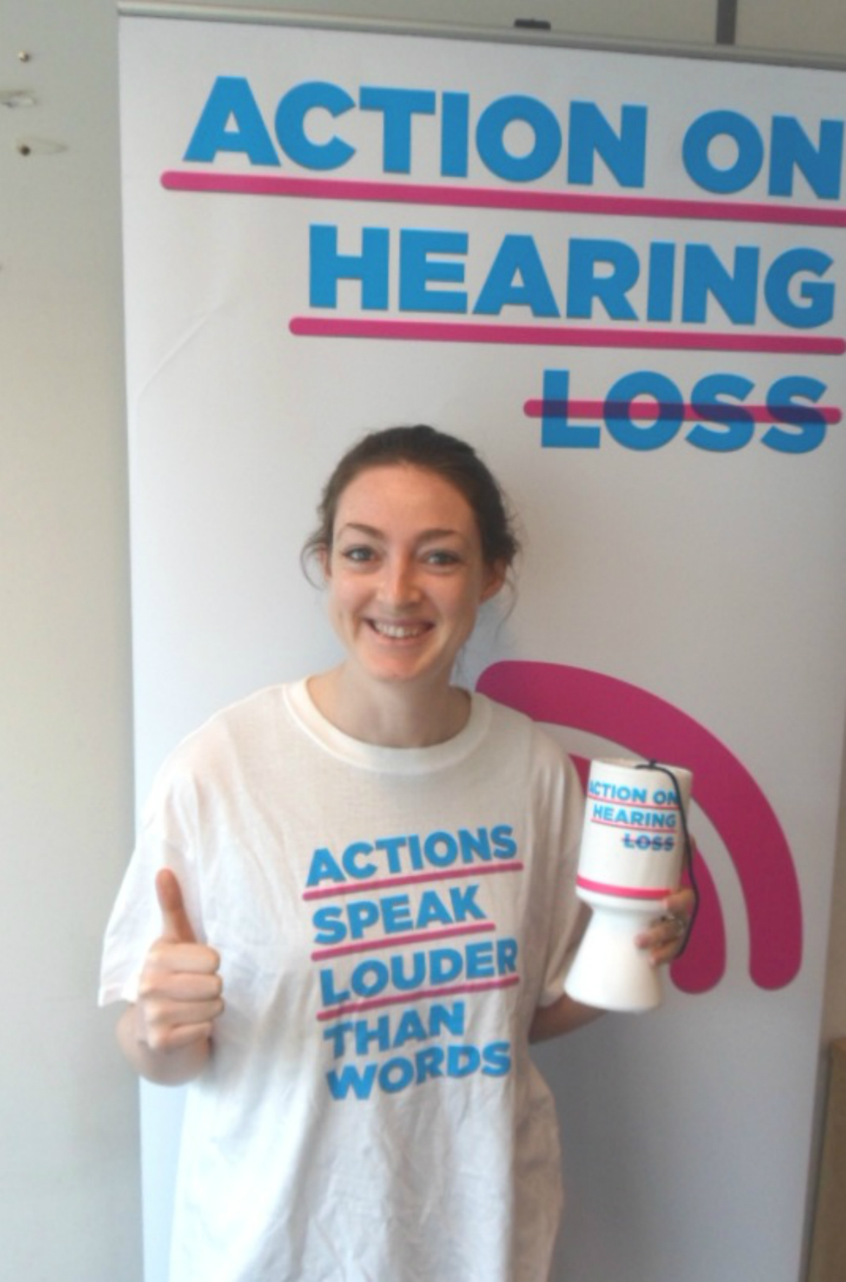 Crystal Rolfe aims to complete the 26 mile trek through the capital in aid of the Action on Hearing Loss