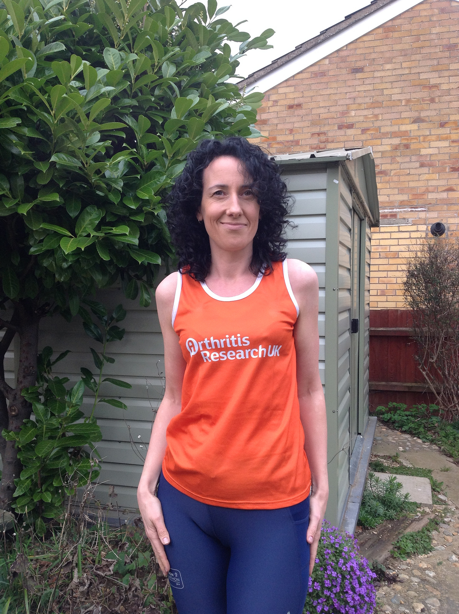 Monica Whyte completed the 26.2 mile endurance run in four hours and 37 minutes yesterday in honour of her father who died at the age of 57.