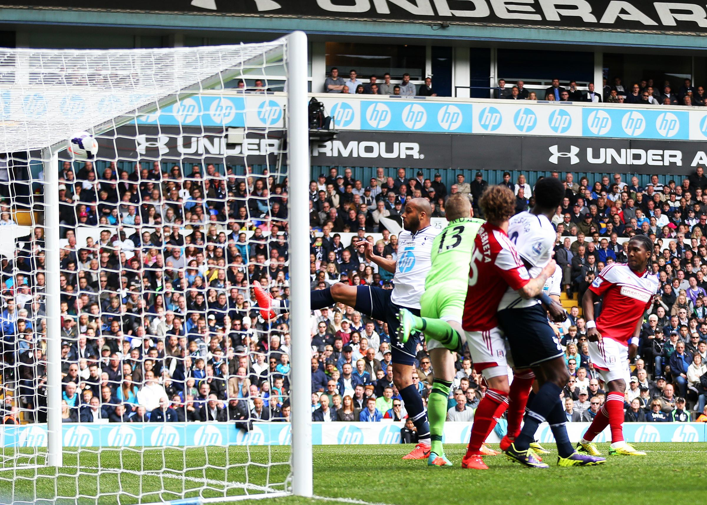 Younes Kaboul scored Spurs' third goal to quash any hopes of a Fulham revival