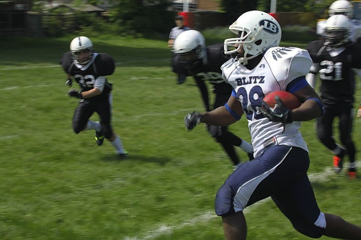 London Blitz Juniors were far too strong for London Warriors