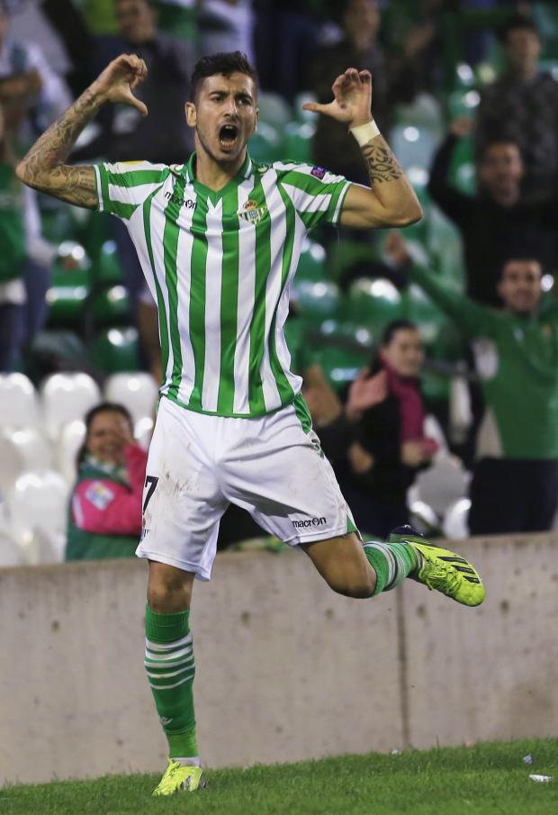 Haringey Independent: Álvaro Vadillo celebrates scoring in the Europa League. Picture: Action Images