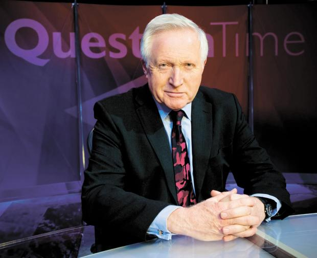 David Dimbleby, who hosts the BBC show Question Time