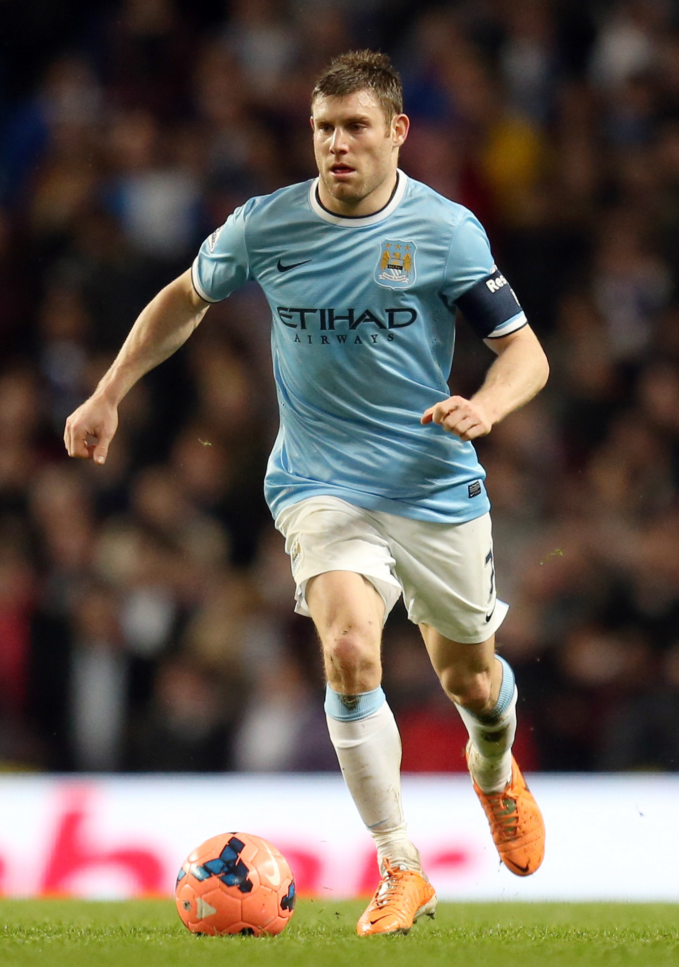 Milner in FA Cup action for the Citizens.