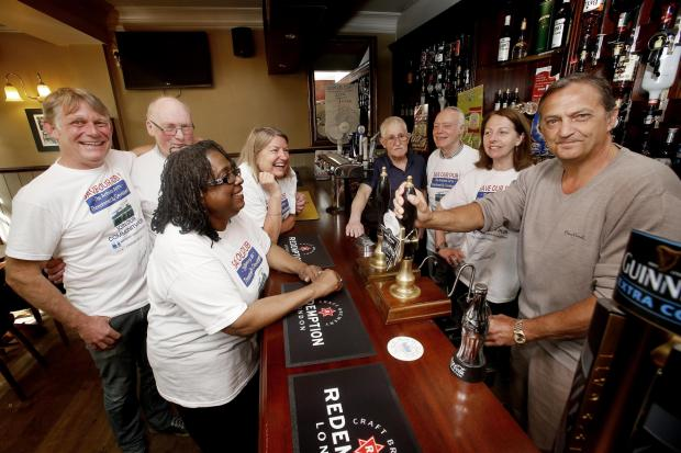 Former Spurs defender Gary Mabbutt attended the pub this morning to pull a pint and publicise the plight of the campaign